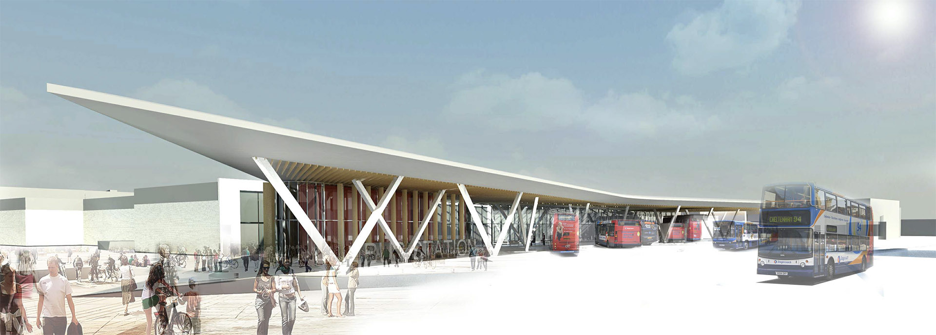 Part of the master plan included the redevelopment of the Bus Station